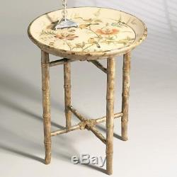 DessauHome Hand Painted Wooden Tray Table