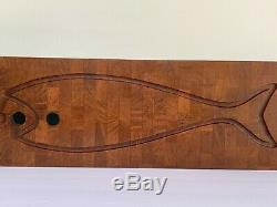 Digsmed Mid Century Danish Modern Large Teak Fish Wall Hanging or Serving Tray