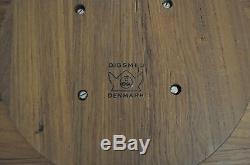 Digsmed Vtg Mid Century Danish Modern Teak Wood Lazy Susan Serving Tray Denmark