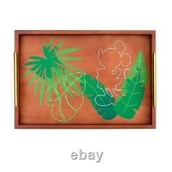 Disney Parks Mickey Mouse Tropical Hideaway Wooden Serving Tray Hideaway Collect