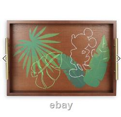 Disney home mickey mouse tropical wood serving tray new