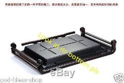 Ebony wood teatray end table solid wood tea table drainage tea boat high quality