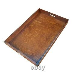 Extra Large Wooden Serving Tray, Set from 1 to 10, 60 cm x 40 cm x 6 cm, - Brown