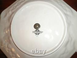 Fitz And Floyd Snowy Woods Christmas 2 Tiered Serving Tray Octagon New w out box