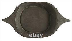 Found Decorative Black Wood Tray