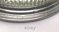 French Art Deco 1930's Aluminium Wood And Mirror Serving Tray Glass Dishes Retro
