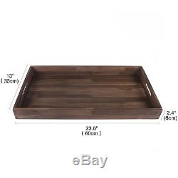 Glitz Star Square Teak Wood Serving Tray, Extra Large(24 x 13 inch)