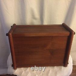 Goodwood Teak Wood Bread Box Storage Container Danish Modern Vintage