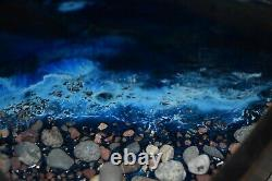 Great lakes Inspired Handcrafted Epoxy Resin Serving Tray Yooperstones Shoreline