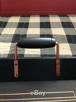 HALLOWEEN BLACK & BRONZE LARGE WOOD SERVING TRAY OUIJA BOARD SKULL BAT 23x15x3