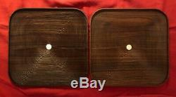 HERMES Pair Traces Trays Wood Carved France AUTHENTIC NIB