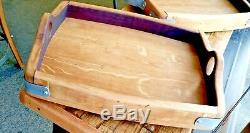 Hand Crafted Wine Barrel Rustic/Vintage Serving Tray