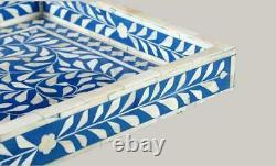 Handmade Bone Inlay Tray Christmas Gifts Serving Tray Free Shipping Decorative