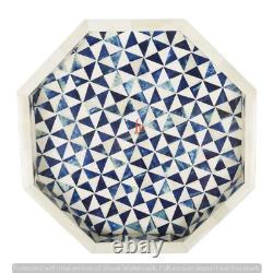 Handmade Bone Inlay Tray Decorative Serving Tray Best Home Decor Purpose