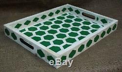 Handmade Bone Inlay Tray Decorative Tray Serving Tray Home Decor Purpose