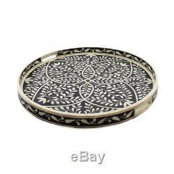 Handmade Bone Inlay Tray Decorative Tray Serving Tray Home Decor Purpose Antique