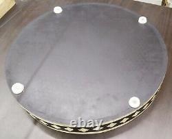 Handmade Bone Inlay Tray Round Tray Decorative Serving Tray Free Shipping Gifts