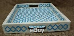 Handmade Bone Inlay Tray Serving Tray Antique Tray Home Decor Modern Art Tray
