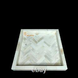 Handmade Bone Inlay Tray, Serving Tray, Decorative Tray Square Tray Home Décor T