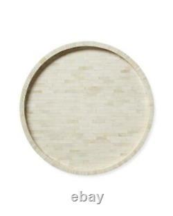 Handmade Bone Inlay White Round Tray Decorative Serving Tray Free Shipping Tray