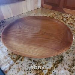 Handmade Hand-Turned Butternut Platter Serving Tray 29, Local Woods, Food-Safe