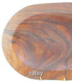 Handmade-Koa-Turned/Carved Wood-Oval Serving Tray-Lee Rogers-Hawaiian-Signed