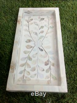 Handmade Mother of Pearl Inlay Tray Serving Tray Beautifully Crafted Tray