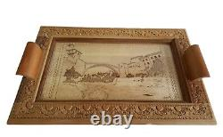 Handmade Wooden Serving Tray with picture of the Old Bridge Mostar