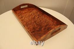 Handmade Wooden Tray Made Of Thuya Burl, Serving Tray Wood, Rectangular Wood tray