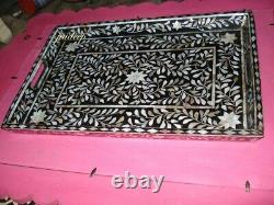 Handmade mother of Pearl Inlay Serving Tray