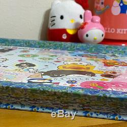 Harajuku sanrio lolita kidcore Hello Kitty decoupage collage Wood Serving Tray