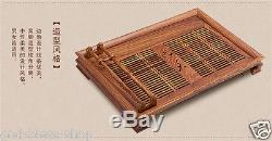 High quality rosewood tea tray solid wood table for tea service drainage drawer