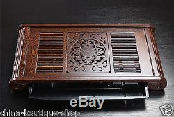 High quality tea tray Wenge wood tea table hand carved floral trays for tea set