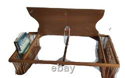 Hollywood Regency Adjustable Ronel Company Bed Breakfast Tray with Serving Tray
