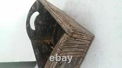 INDIAN Vintage HANDMADE Beautiful Wooden Carvin Serving Tray