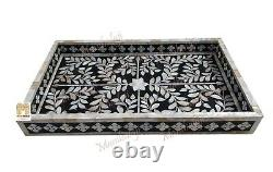 In stock mother of pearl Inlay Tray large tray Serving Tray waterproof tray