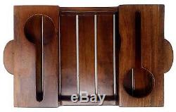 Indian Wooden Wine Serving Tray Light Walnut With Free Shipping