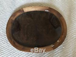 Italian Burl Wood Serving Tray - Large - High End