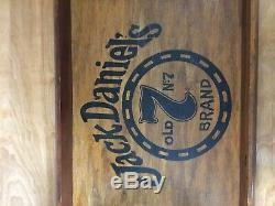 Jack Daniel's Old No. 7 Whiskey Wooden Serving Tray & Sign Barware