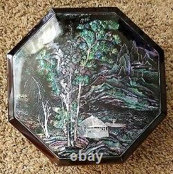 Korean Mother Of Pearl Jeol Pan Serving Trays D 10 With 5 Sections In Octagon
