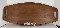LARGE Danish Dansk 4 Ducks JHQ Staved Teak Wood #803 Tray / Platter Quistgaard