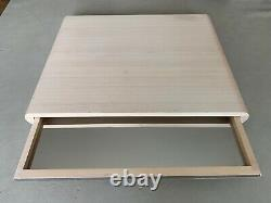 LEGNOART WHITE OFF WOOD Cheese Board Set Drawer Serving Tray Kitchen 19.5X15.5