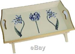 Lap Desk Bed Tray Breakfast Bed Tray TV Trays Folding Legs Wood Trays Tulip