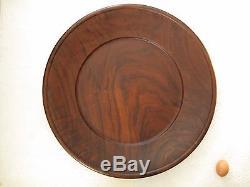Large 23 Walnut Centerpiece Wooden Serving Plate Platter Tray
