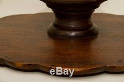 Large Antique Lazy Susan Rotating table centre tray wood serving stand