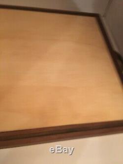 Large Duckhorn Napa Wood Wine Panel Serving Tray Handmade Mahogany Wood Trim
