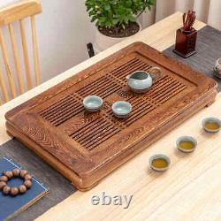 Large tea tray Wenge wood tea table solid wood serving tray reservoir tea boat