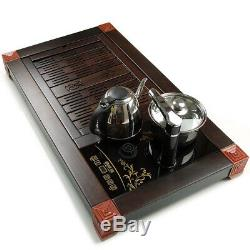 Luxury tea set ebony wood tea tray rosewood tea table with induction cooker new