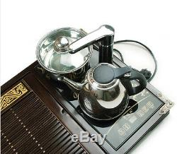 Luxury tea tray solid wood tea table with induction cooker electrical kettle new