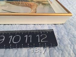 Lynn Chase Serving Tray glass/gilded wood Costa Azzurra withduck painting illus